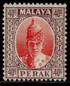 MALAYSIA - Perak GVI SG117, 40c scarlet & dull purple, M MINT. Cat £50.