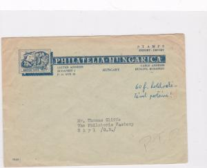 hungarian philatelic 1959 stamps cover ref 12880