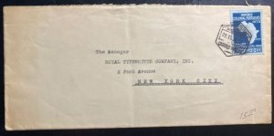 1939 Lorenzo Marques Mozambique Cover To Royal Typewriter New York USA