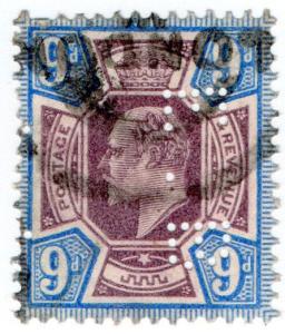 (I.B) Edward VII Commercial Perfin : SG 307 (EB)