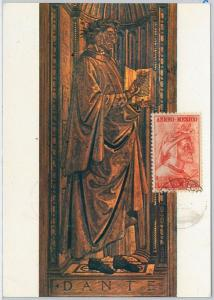 48276  MAXIMUM CARD  - LITTERATURE: Dante Alighieri  -  MEXICO  1965