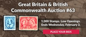 The 63rd Great Britain & Commonwealth Auction