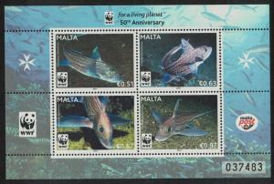 Malta WWF Fishes MS SG#MS1685