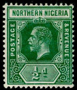 NORTHERN NIGERIA SG40, ½d deep green, M MINT.