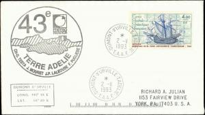 French Southern & Antarctic Territory #221, Antarctic Cachet and/or Cancel
