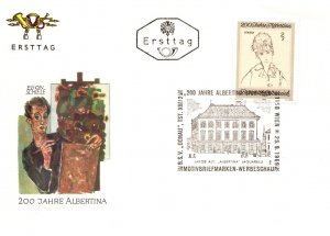 Austria, Worldwide First Day Cover, Art