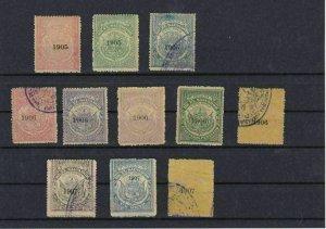 Salvador 1905-1907 Revenue stamps Ref: R4197