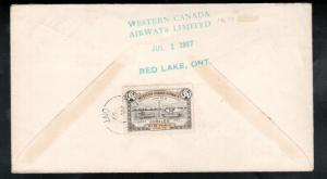 Canada #CL41 Used Pilot Signed Cover Rolling Portage To Red Lake
