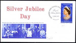 Guernsey Sc# 145 FDC 1977 6.7 Silver Jubilee
