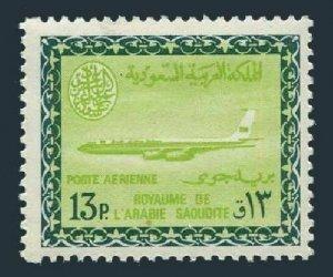 Saudi Arabia C45,MNH.Mi 254. Air Post 1966.Saudi Airline Boeing.Saud Cartouche.
