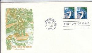 1991, 19c Fishing Boat, Artmaster, FDC (D14731)