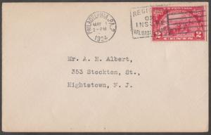 #615 2¢ HUGUENOT-WALLOON FIRST DAY COVER BL2498