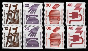 # 1075c MNH Accident prevention, parts of booklet pane cv 90 Euro