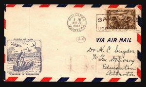 Canada 1930 FFC Winnipeg to Edmonton - L2062