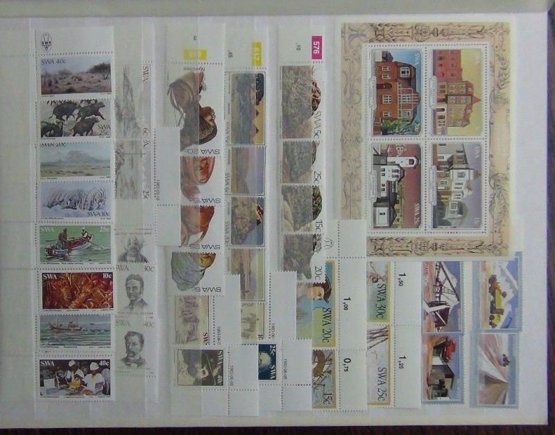 South West Africa 1981-83 Commemorative issues Tortoise Lobster Discoveries MNH