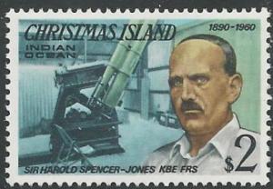 Christmas Island  # 84 Visitors Series -  $2 (1) Mint NH