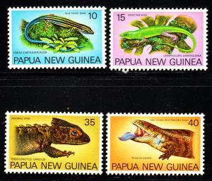 Papua New Guinea MNH 478-81 Lizards 1978