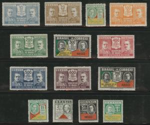 Brazil Scott 342-355 MH* 1931 Revolution set CV$140