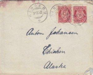 1912, Ringebu, Norway to Chicken, Alaska W/Letter, See Remark (28410)