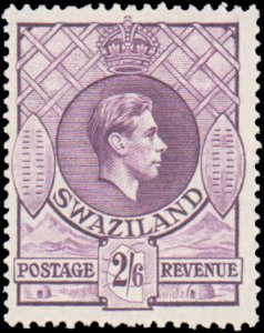 Swaziland #35, Incomplete Set, 1938, Hinged