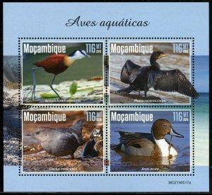 MOZAMBIQUE 2019  AQUATIC BIRDS SHEET MINT NEVER HINGED