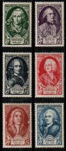 France Scott B238-43 Mint NH (Catalog Value $25.00)