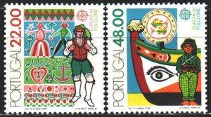 Portugal. 1981. 1531-32. Folkler, europe-sept. MNH.