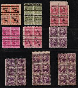 US STAMP USED BLK OF 4, 6 STAMPS  COLLECTION LOT