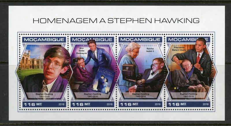 MOZAMBIQUE 2018 TRIBUTE TO STEPHEN HAWKING SHEET MINT NH