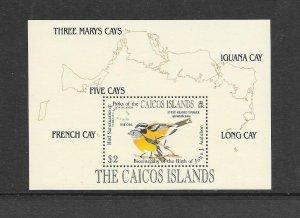 BIRDS - CAICOS #64  MNH