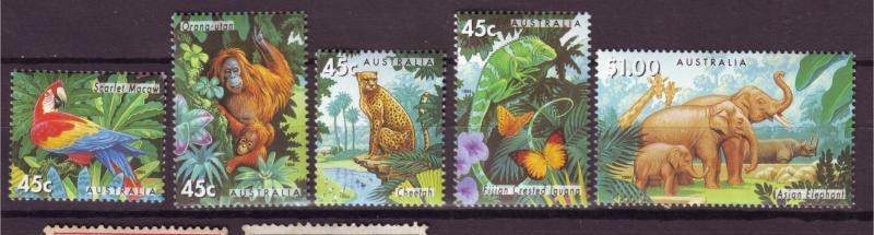 J16467 JLstamps 1994 australia set mnh #1385-9 wildlife
