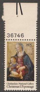 USA stamp, Scott# 1579, MNH, VF, single stamp, plate number, #1579