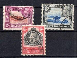 British KUT 1935 2s 3s & 5s fine used SG119 Cat Val £50 WS15903