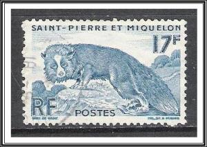 St Pierre & Miquelon #344 Silver Fox Used