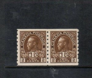 Canada #MR7 Very Fine Never Hinged Coil Pair