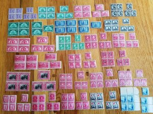 23 Sets of Commemoratives Blks/4 & Pr. & Sig. for each(NL03