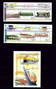 Comoro Is 941-43 MNH 1999 Locomotives