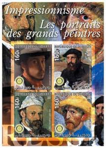 Impressionist Painter Portrait Stamps M0855-6