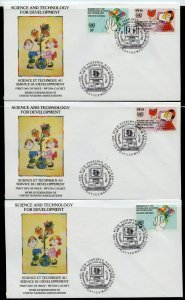 UN 1992 SCIENCE & TECHNOLOGY   WFUNA CACHET BYSAUL MANDEL ON 19 FIRST DAY COVERS