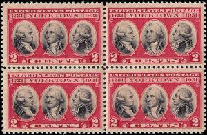703 Mint,OG,NH... Block of 4... SCV $2.00