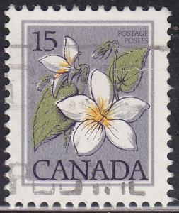 Canada 787 USED 1979 Canada Violet, Flower 15¢