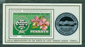 Penrhyn Island #218  MNH  Scott $3.50   Souvenir Sheet