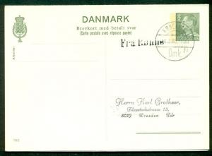 DENMARK 35ore, #202 used w/st. line Fra Ronne to Germany, signed Ringstrom (123)