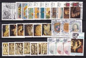 1977-78 - Vatican City - Sc# 607-634, C63-C65 - Complete year set - Used