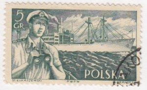 Poland, Sc 719, Used, 1956, Captain * S.S. Kilnski