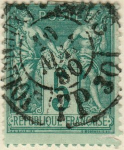 FRANCE - 1880 - CàD JOURNAUX / PARIS / PP30  sur Yv.75 5c Vert type Sage t.II
