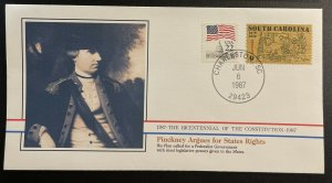 US #1407,2115 Used on Cover - Bicentennial of Constitution 1787-1987 [BIC10]
