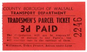(I.B) County Borough of Walsall Trolleybus : Tradesmen's Parcel 3d