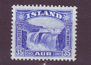 J25453 JLstamps 1931-2 iceland mlh #372 water falls