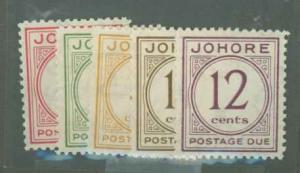 Malaya Johore J1-J5 Mint VF HR